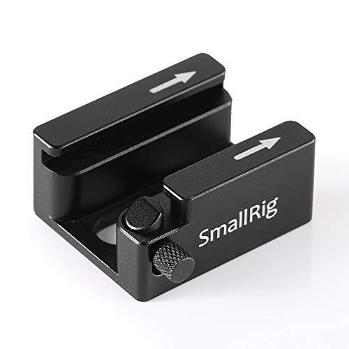 SMALLRIG Cold Shoe Mount-Adapter mit Anti-Off Button für Shoe Halter 2260 Cold Shoe Adapter