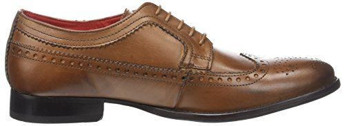 Base London Bailey, Brogues Homme Beige (Tan Burnished)
