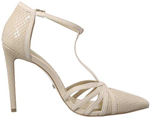 Buffalo Zs 5350-15 Snake Co 7345 Nobuck, Chaussures à talons avec bride style salomés femme Beige - Beige (Nude 01)