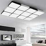 Lamps LED Living Room, Schlafzimmer Licht, Deckenleuchte, Gitter Lampe, quadratische Licht, einfache, Moderne Schlafzimmer Licht, Raumlichter, Lobby LED-Leuchten, weißes Licht, 12, einfache atmosphär