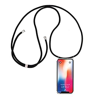ff-mobile HANDYKETTE kompatibel mit Huawei Mate 10 Lite - Smartphone Necklace Hülle mit Band - Schnur mit Case zum umhängen in Schwarz