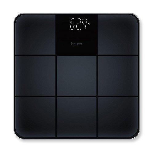 Beurer GS 235 Bilancia in Vetro con Superficie Antiscivolo e Magic Display, nero