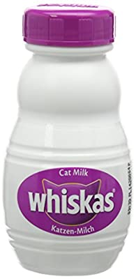 Whiskas Cat Milk Cat Treat for cats, 5 Packs (3 x 200 ml)