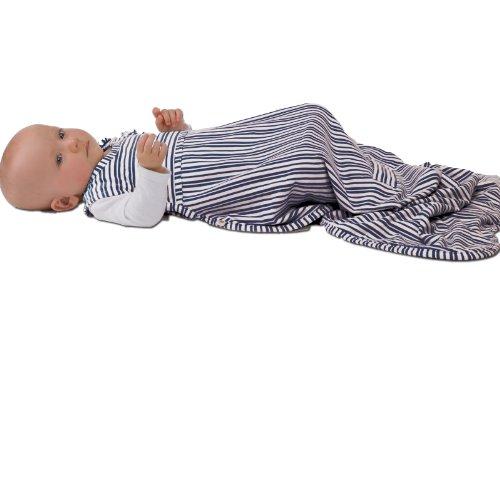 Merino kids sacco nanna per neonati 0-2 anni, french navy