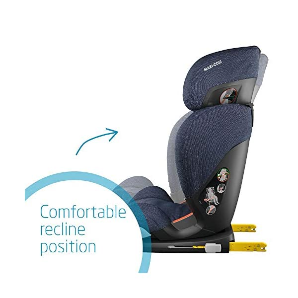 Maxi-Cosi RodiFix AirProtect Child Car Seat, ISOFIX Booster Seat, Extra Protection, 3.5-12 Years, 15-36 kg, Sparkling Blue Maxi-Cosi Outstanding side impact protection - with the combination of patented air protect technology Patented air protect technology in headrest - the risk of head and neck injuries are reduced up to 20% Quick and easy to buckle your child up with the 'easy-glide' system and clear belt routing 4