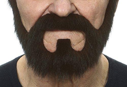 (Mustaches Dunkel brauner Vollr fälschen, selbstklebend Bart)