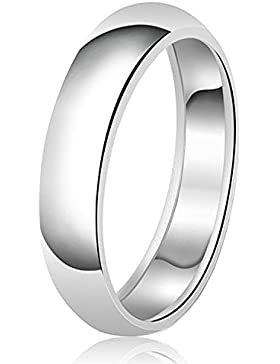 6mm Klassische Sterling Silber Ehering Schlicht Ring