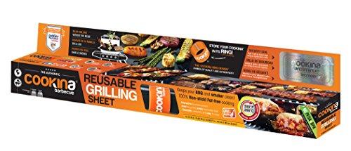 cookina Grill Antihaft-wiederverwendbar Grillen Tabelle Single Pack schwarz