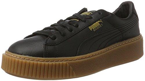 Puma Basket Platform Core, Scarpe da Ginnastica Basse Donna Nero (Puma Black-puma Black)