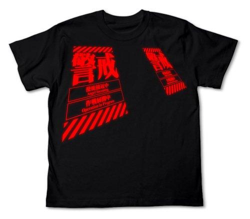 Evangelion alert T-shirt Black Size: S (japan import)