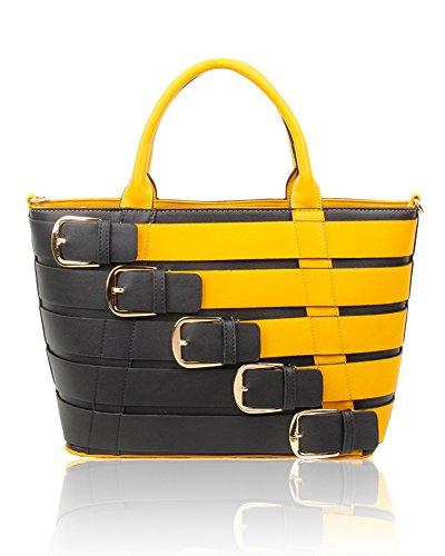 Redfox, Borsa tote donna Black/yellow