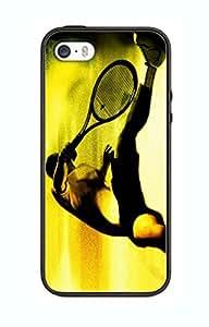 Case, Motiv: Tennis Sport TN03 für Iphone 4/4s, Design Border Gummi Silikon Schwarz @pattayamart