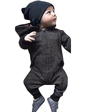 BakeLIN Kinderkleidung Baby Overall Winter Neugeborene Jungen Mädchen Kleidet Unisex Fleece Reißverschluss Hoodie...