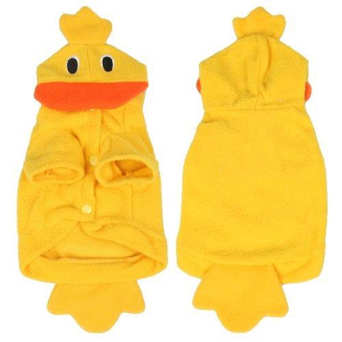 Sourcingmap Ente Stil Fleece Doggy Hund Halloween-Kostüm Kleidung Hundemantel, XS, gelb