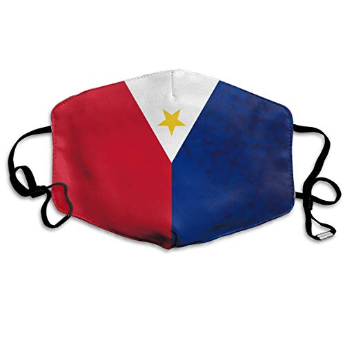Monicago Masken für Erwachsene, Face Masks Anti-Dust Mouth Cover Cool Flag Of The Philippines Washable And Reusable Mask Warm Windproof For Women Men Boys Girls Kids