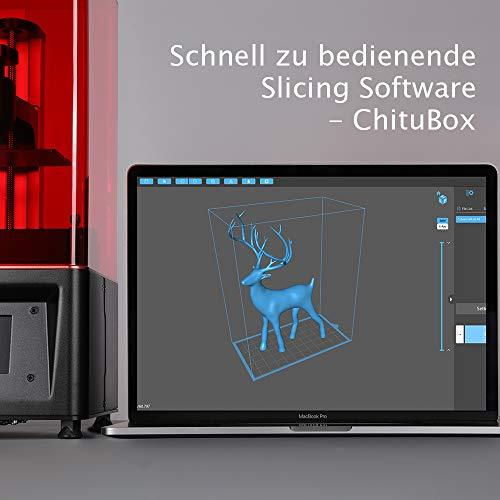 ELEGOO MARS UV LCD 3D Drucker mit 3,5 Zoll Smart Farbtouchscreen Offline-Drucken Druckbereich von 4.72″(L) x 2.68″(W) x 6.1″(H) (Schwarz) - 4
