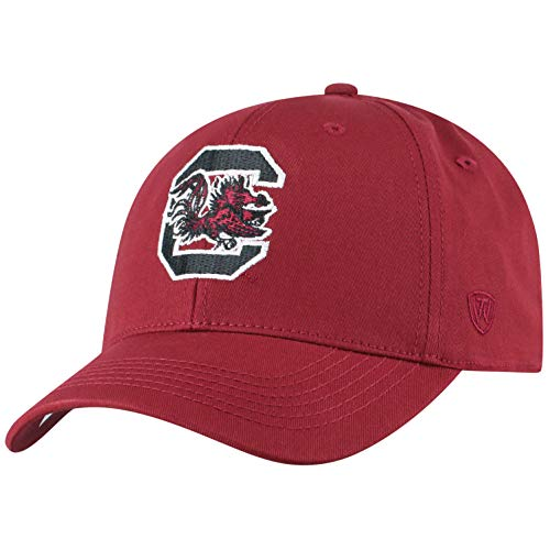 Top of the World Herren Mütze NCAA Fitted Team Icon, Herren, NCAA Men's Fitted Hat Relaxed Fit Team Icon, South Carolina Fighting Gamecocks Garnet, Einstellbar