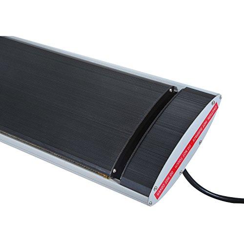 Outsunny Elektrischer Terrassenstrahler Heizstrahler Infrarotstrahler schwarz/silber 1500W/2000W Decken/Wandmontage/Standheizstrahler (Modell6); - 7