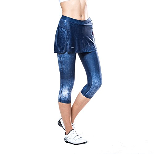 Souke Sports Frauen Radsport Hosen 4D gepolstert komfortabel Radsport Hose Trikot Radfahren Rock Shorts Lange Hosen & 3/4-Rad-Caprihose