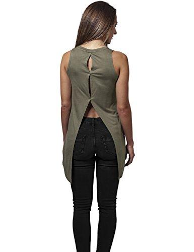 Ladies HiLo Viscose Top Urban Classics Streetwear Canotta Donna Olive