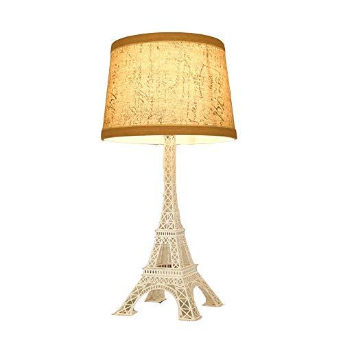 Lampe de table à tour Eiffel Support de lampe en fer forgé de style européen Créativité moderne Art Lighting Sake Bar Magasin de vêtements Chambre à coucher Lampe de chevet (& Phi; 30 * H60), Dumbwh