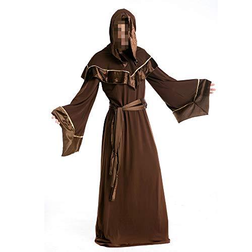 Männliche Kostüm Gute - kMOoz Halloween Kostüm,Outfit Für Halloween Fasching Karneval Halloween Cosplay Horror Kostüm,männlicher Zauberer des Erwachsenen Mage Robentanzpartykostüms Halloween-kostüms