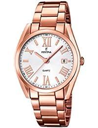 Festina  0 - Reloj de cuarzo para mujer, con correa de acero inoxidable, color 0