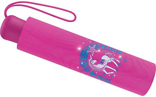 Scout Kinder Regenschirm Taschenschirm Schultaschenschirm mit Reflektorstreifen extra leicht Lilac Unicorn Einhorn