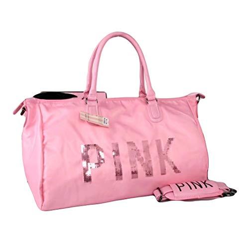 MSE Sequin Secret Message Lightweight Travel Pouch Bag (Light Pink,...