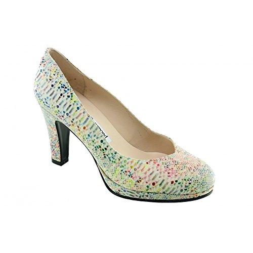Escarpins Femme Multicolore à Plateforme - Keliane - Yves De Beaumont ® C-Multi