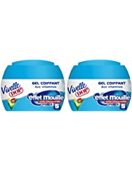 Vivelle Dop - Gel Coiffant aux Vitamines Effet Mouillé Force 5 Pour Homme - 150 ml - Lot de 2