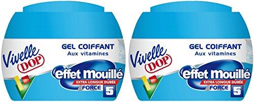 VIVELLE DOP VIVELLE DOP styling gel mit vitaminen effekt wet strength 5 pour homme - 150ml - set aus 2 - Wet-glanz Gel