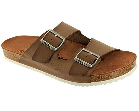 Pepe Jeans - Mules en cuir Pepe Jeans ref_pep39367-874-marron -