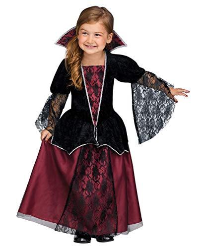 Horror-Shop Vampir Gräfin Kleinkinderkostüm für Mädchen - Faschings & Haloween Kostüm ()