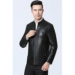 EVNGA Männer Mantel 2018 Jacke Self-Kultivierung Leder Casual Herrenbekleidung Herbst, gesalzene Gemüse Farbe, Hundert und Seventy-Five