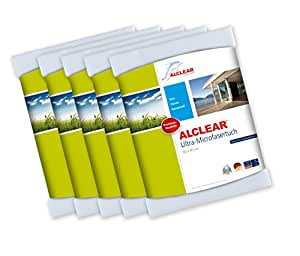 5er Set ALCLEAR Ultra-Microfaser Fenstertuch Scheibentuch 60x45 cm wei�