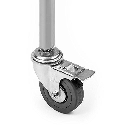 oneConcept Sauenland Grill Spanferkelgrill Lammgrill (Elektro-Motor, Edelstahl-Drehspieß, höhenverstellbar, 4 Rollen, 2 Grillroste, Gabel und Klammern) silber -