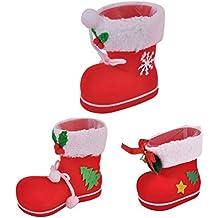 AZX Navidad süßigkeits Funda Süße Botas Zapatos Regalo calcetín Bolsa Rojo decoración navideña Home ...
