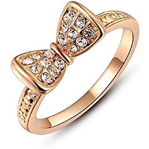 Bling fashion anello placcato in oro rosa