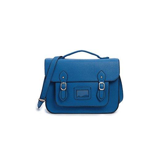 Yasmin Bags, Borsa a secchiello donna 12345 Blue