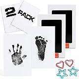 Scotamalone 2 Packs Baby-Handabdruck- und Fußabdruck-Stempelkissen - Pet Paw Print Kits - Ungiftig, sicher und sauber - für Familien-Andenken, Babyparty-Geschenk und Registrierung mittlerer Größe