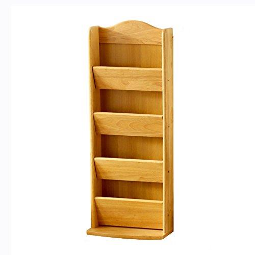 QFFL Crémaillère créative moderne en bois solide / simple support de stockage multicouche / salle de bains Foyer pantoufles / chaussures étagère antipoussière de stockage 31 * 15 * 81,5 cm Range-chaussures ( Couleur : Couleur du bois )