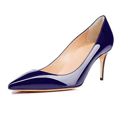 uBeauty Scarpe da Donna - Scarpe Col Tacco - Classiche Scarpe Col Tacco - Tacco a Spillo - 65 mm con Tacchi Alti Blu scuro