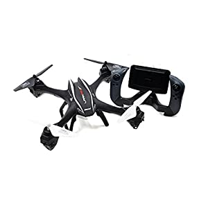 CreaTion® U842-1 Large 6-Axis Gyroscope RC Quadcopter Drone Black Color with FPV Camera & WIFI-842-1 Real-Time FPV Remote Control
