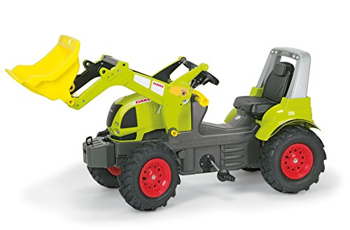 Claas Trettraktor Rolly Toys 710249 rollyFarmtrac Claas Arion 640 | Trettraktor mit abnehmbaren Lader | Traktor mit Überrollbügel, Luftbereifung, Motorhaube zum Öffnen, Sitzverstellung | ab 3 Jahren | Farbe grün
