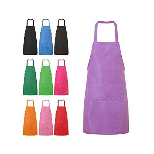 Nykkola Küchen-Schürze für Frauen/Mädchen, Kochen, Restaurant, Arbeit, Grillen, Garten, mit Taschen violett