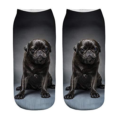YWLINK Damen Herren Kurze Socken 3D Katze Weihnachten Drucken Beliebt Lustig Niedlich SchöN KnöChel Socken Casual Socken Geschenk Unisex Tierdruck