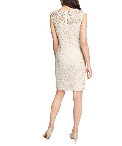 ESPRIT Collection Damen Kleid 026eo1e002-Hochwertige Spitzenverzierung Weiß (OFF WHITE 110)