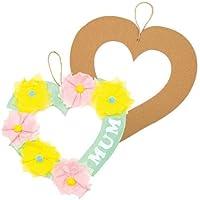Baker Ross Couronnes cœurs à colorier, parfaites pour Les Loisirs créatifs et Les décorations pour Enfants (Lot de 10)