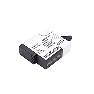 Cellonic® Qualitäts Akku kompatibel mit GoPro Hero 5 Black Hero 6 Black (601-10197-00 AABAT-001 AABAT-001-AS ASST1 CHDHX-501) GoPro Hero 7 Black, 7 White Silver, 1250mAh AHDBT-501 Ersatzakku Batterie
